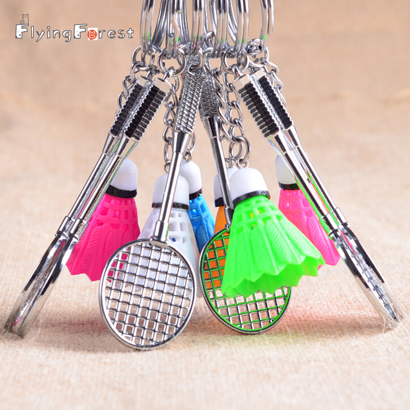 Badminton Keychain Key Chain Sports Shuttlecock  keychains Tennis