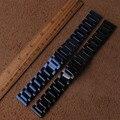 Ремешок для часов из нержавеющей стали  черный  синий  металлический браслет для часов  20 мм  22 мм  полированный стильный ремешок для часов