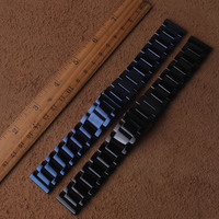 Watchbands Stainless steel Black Blue Metal Watch strap bracelet 20mm 22mm polished stylish watch band for brand mens hours new