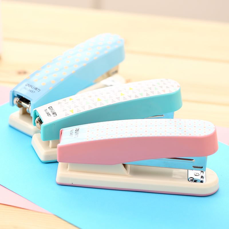 Candy Color Mini Stapler Standard #12 Student Stapler Save Effort Office Accounting Binding Tools School Test Paper Deli 0457