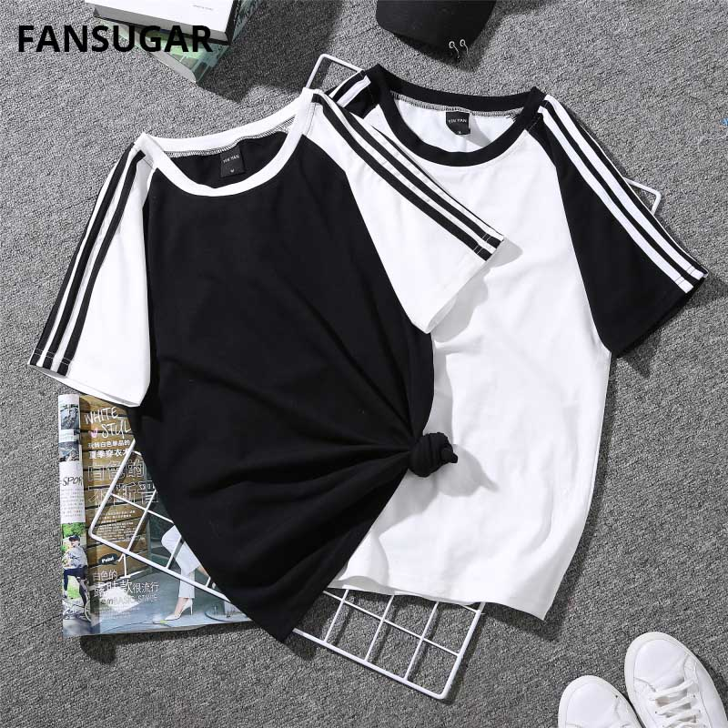 FANSUGAY Summer Women's T-shirt Short Sleeve Vogue Casual Funny Simple Small Fresh Casual Oversized T Shirt Female WX8041