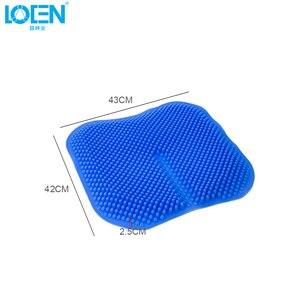 Image 5 - Car Seat Cushions Massage High Memory Silicone Breathable Mesh Silica Gel Auto Car Seat Covers For Toyota Jetta Hyundai Audi Kia