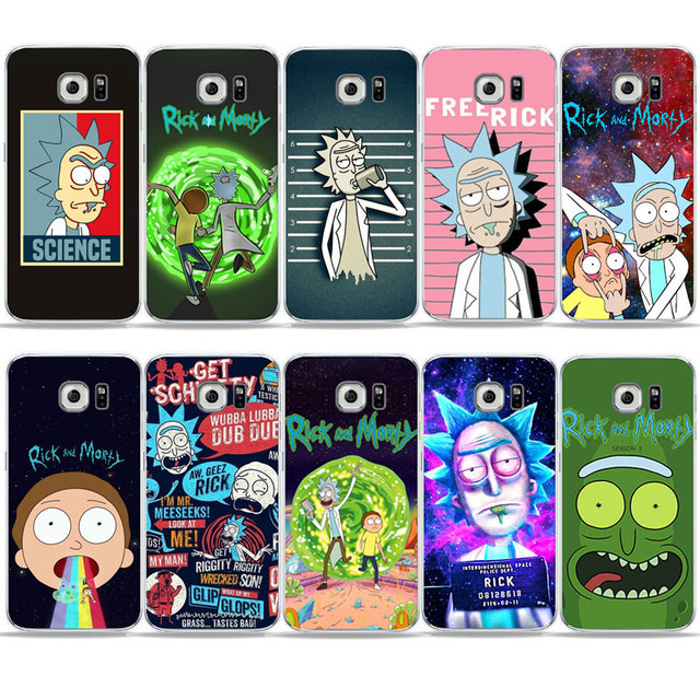 reputable site 77997 9d71b Popular American drama Cartoon anime Rick and Morty Phone Case For Samsung  S6 S7 edge S9 S8 Plus A6 2018 J5 J7 Cover For A5 2017