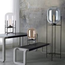 Стиль креативный простой торшер восковая тыква форма стеклянный абажур стоящая лампа черный дизайн художественное украшение освещение