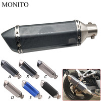 Universal Motorcycle Akrapovic Exhaust Dirt Bike Escape Modified Exhaust For YAMAHA WR450F WR250R WR250X WR450 SEROW 225 250