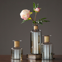 High quality glass vase terrarium glass containers flower vase Bottle crafts nordic decoration home vases wedding decoration