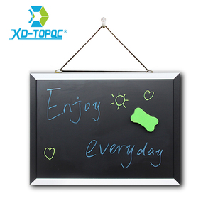 XINDI New Magnetic Blackboard MDF Black & White Wooden Frame ChalkBoard 25*35cm Home Decorative Message Board For Notes Lousa