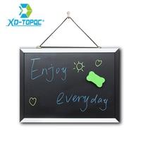 XINDI New Magnetic Blackboard MDF Black White Wooden Frame ChalkBoard 25 35cm Home Decorative Message Board