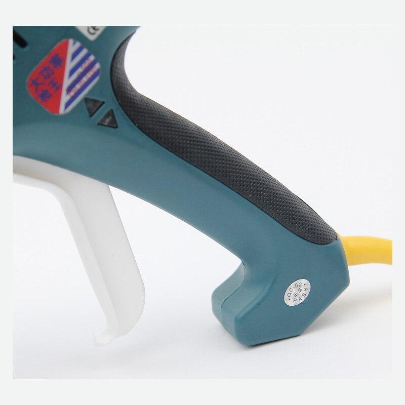 Pistolet à colle thermofusible haute puissance 500 W 100 V 240 V pistolet à colle industriel professionnel pour bâtons de colle 11mm avec buse en cuivre, 1 Pcs/Lot - 4