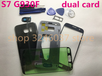 Original For Samsung Galaxy S7 G930 G930F Full Housing Cover Case Middle Frame+Battery Cover+Front Screen Glass Lens dual card