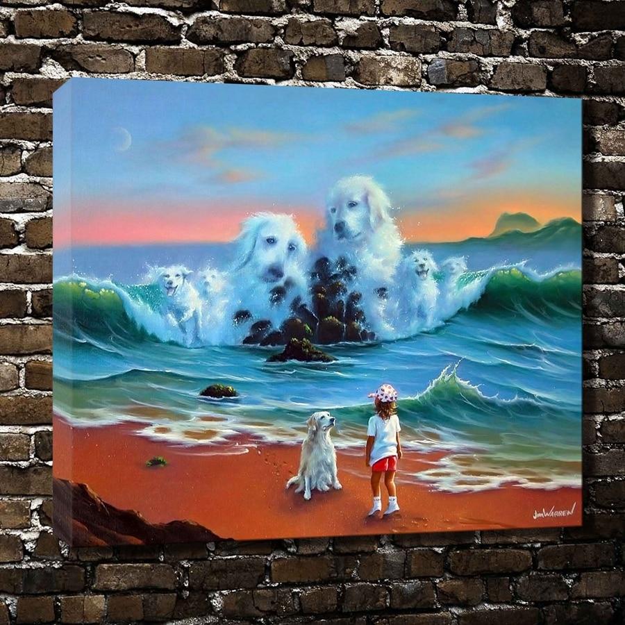 ⓪A125 Jim Warren Fantasy de océano bastante paisaje. HD Canvas ...