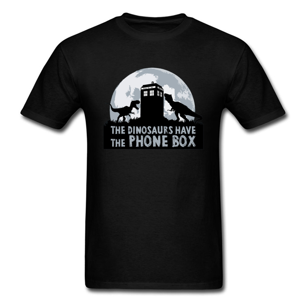Tardis Doctor Who Jurassic Park Tshirts Dr Who Spacecraft Machine Men T Shirt Dalek Caffeinate Robot Funny T-Shirts Rose Skull image