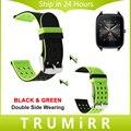 22 мм Силиконовой Резины Ремешок Двойной Сторону Носить Полосы для Asus ZenWatch 1 2 Мужчин Pebble Стали Время LG G Watch Urbane W150 браслет