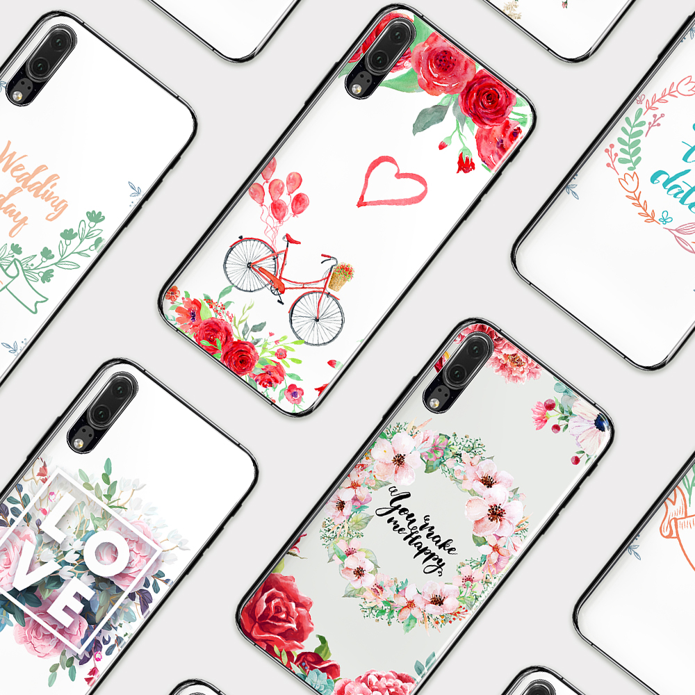 Fitted Cases Devoted Eleteilflower Wreath Phone Cases For Huawei P10 P10 Lite P20 P20 Lite P20 Plus Pro Love Shockproof Tpu Silicone Back Cover E40 And Digestion Helping