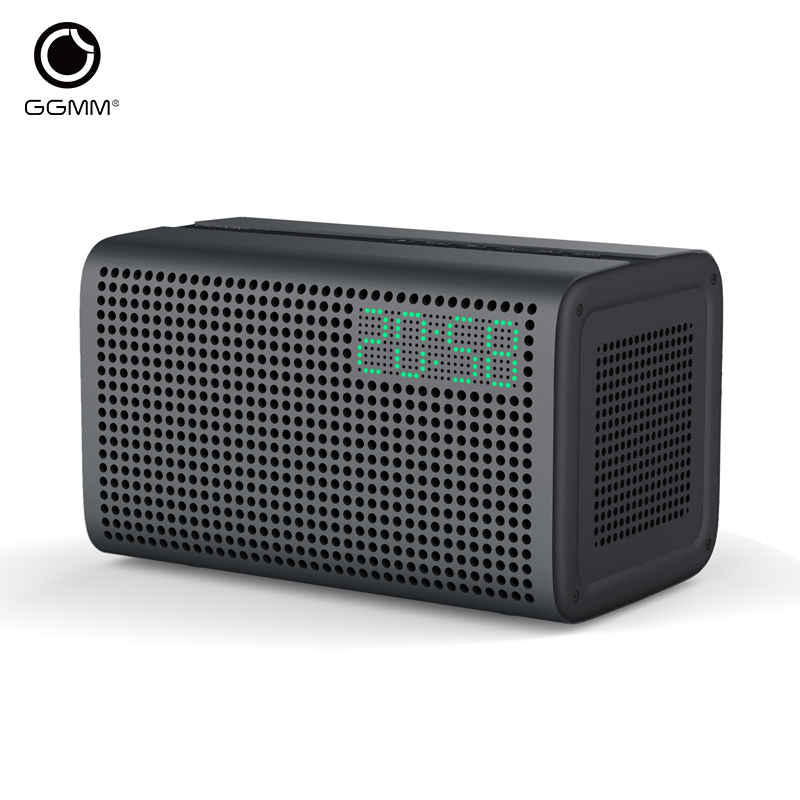 GGMM E3 Speaker Bluetooth Column WiFi Wireless Speaker Portable Speaker Support Alexa for iOS Android With Alarm Clock & Charger