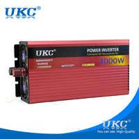 UKC DC 24 В к AC 220 В 4000 Вт Автомобильный Инвертор преобразователь напряжения с прикуривателем трансформатор для прикуривателя USB зарядное устро...