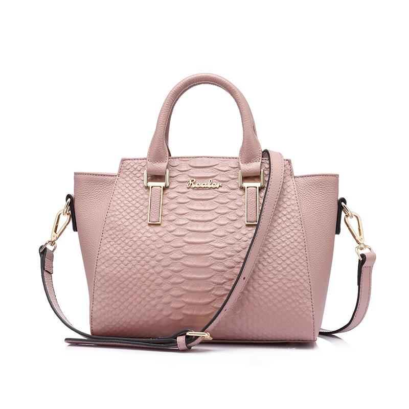 REALER fashion women s luxury handbags women bags designer messenger genuine leather crossbody bag famous brands
