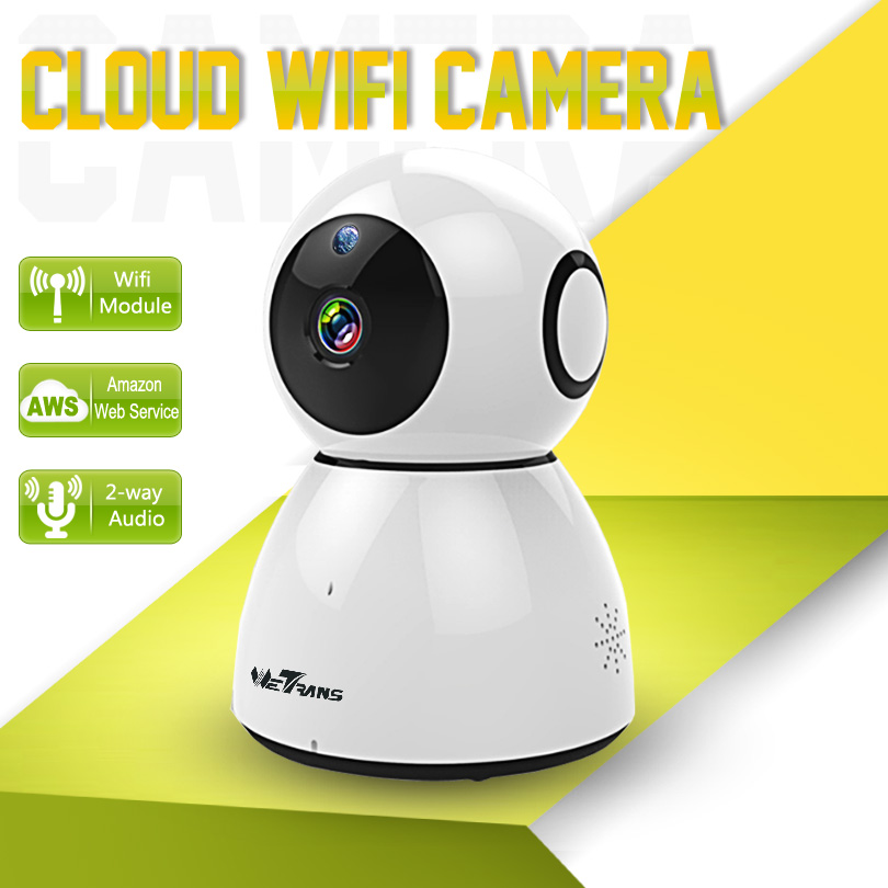 Wetrans IP Camera Baby Monitor Smart Pan Tilt Home Security 10m Night Vision 720P HD P2P Wi-fi Wireless Web Cloud Camera Wifi buy monitor with web camera