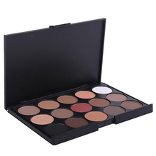 2016 New Arrival Pro 15 Colors Eyeshadow Makeup Warm Nude Shimmer Palette Cosmetic RF170WD