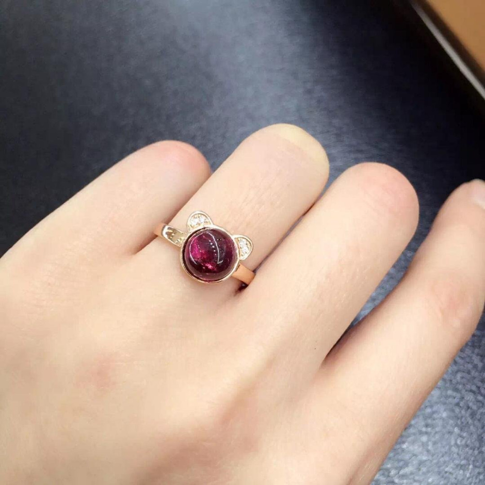 купить Anillos Qi Xuan_Trendy Jewelry_natural Tourmaline Elegant Woman Rings_Rose Gold Color Fashion Rings_Manufacturer Directly Sales онлайн