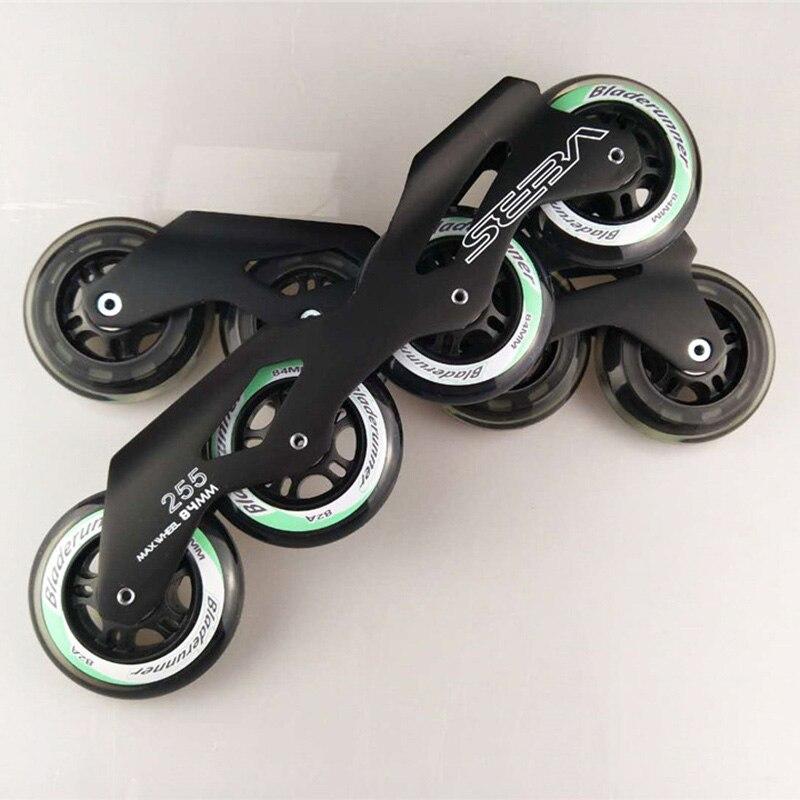 Inline Slalom Skates Seba Frame Wheel Bearing Combination for 4X84mm Skating base 84mm 82A Marathon Racing Rodas 165mm Mount 255 bauer vapor rh x50r inline skates 4 jr