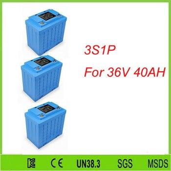 Free shipping 3pcs 3S1P   llithium iron phosphate lifepo4 12v 40ah solar system battery For 36V 40AH lifepo4 battery pack