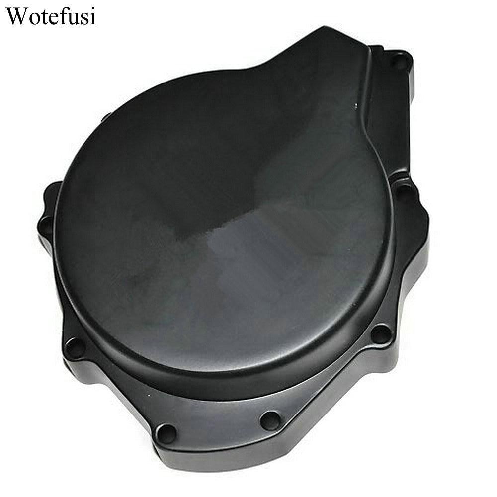 Wotefusi Motor Black Stator Engine Covers For Suzuki Hayahusa 99-08 1999-2008 [MT14]