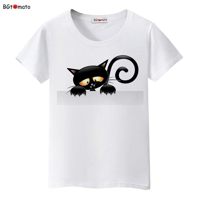 BGtomato super cool elegant cat t shirt women hot sale clothes lovely tshirt fashion top tees t-shirt Brand kawaii shirt 17