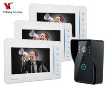 Yobang Security 7″ Video Intercom Door Phone System 4CH Video Input 1CH Video Output 1.3Mega Pixel Door Camera Doorbell
