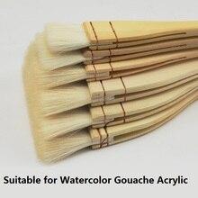 6 pièces/lot haute qualité laine pinceaux aquarelle Gouache grand pinceau peinture fournitures