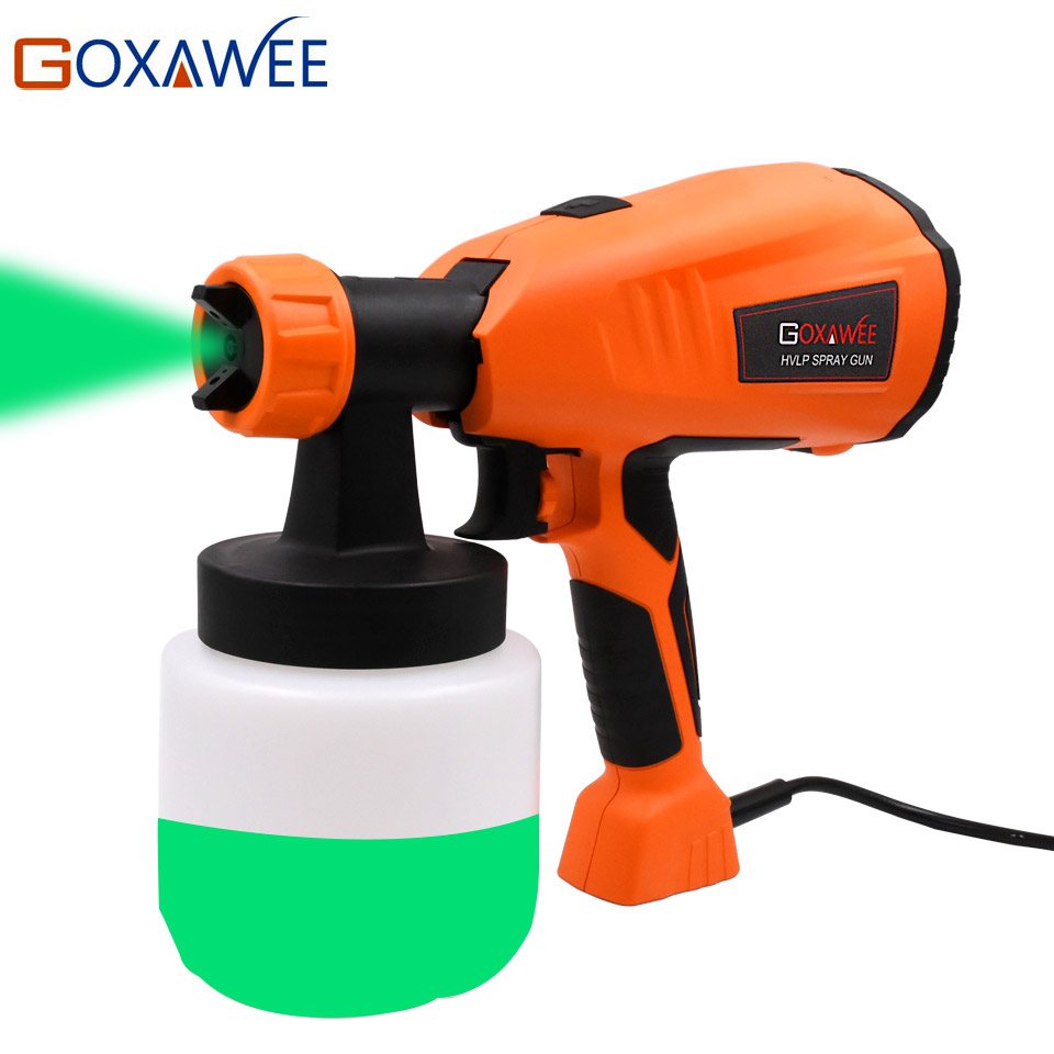 GOXAWEE 220V 400W Electric Paint Spray Gun Airless HVLP Paint Mini Sprayer Gun For Painting Cars Wood Furniture Wall Woodworking