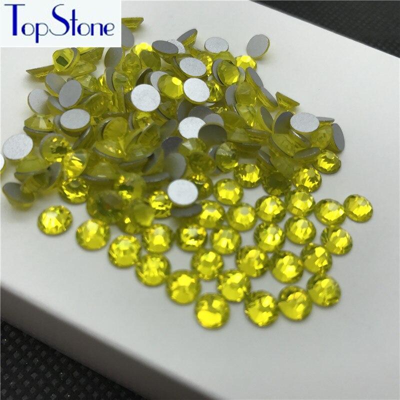 Topstone Diamantes con piedras falsas flatback ss3-ss34 citrino ...