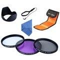 62mm UV Protector FLD CPL Polarizing Lens Filter Kit Flower Lens Hood Cleaning Pen For Canon/For Nikon 18-250