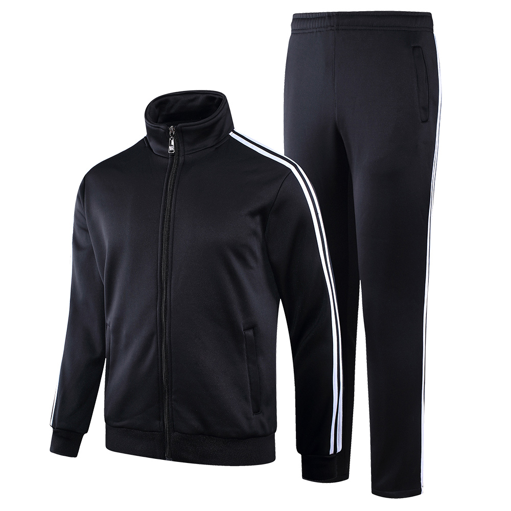 YIHUAHOO Tracksuit Men Winter Thick Warm Velvet Fur Jacket Clothing Set Two-Piece Sweatpants Sportswear Track Suit KSV-TZ090