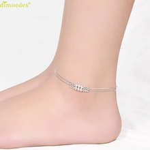 Diomedes Newest Creative Diomedes Sliver Plated Beads Anklet Women Chain Style Elegant Jewelry Sexy Anklets