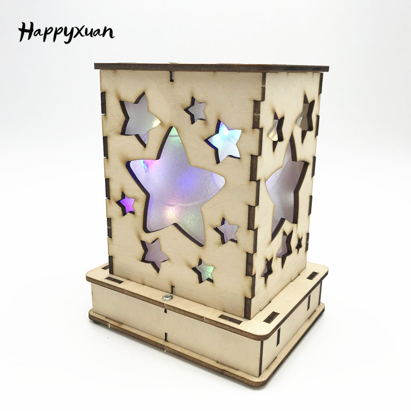 Happyxuan Girls DIY Science Educational Toys Electric Kits Lab Experiments For Children Stars In Bottle LED Crafts Kids Creative