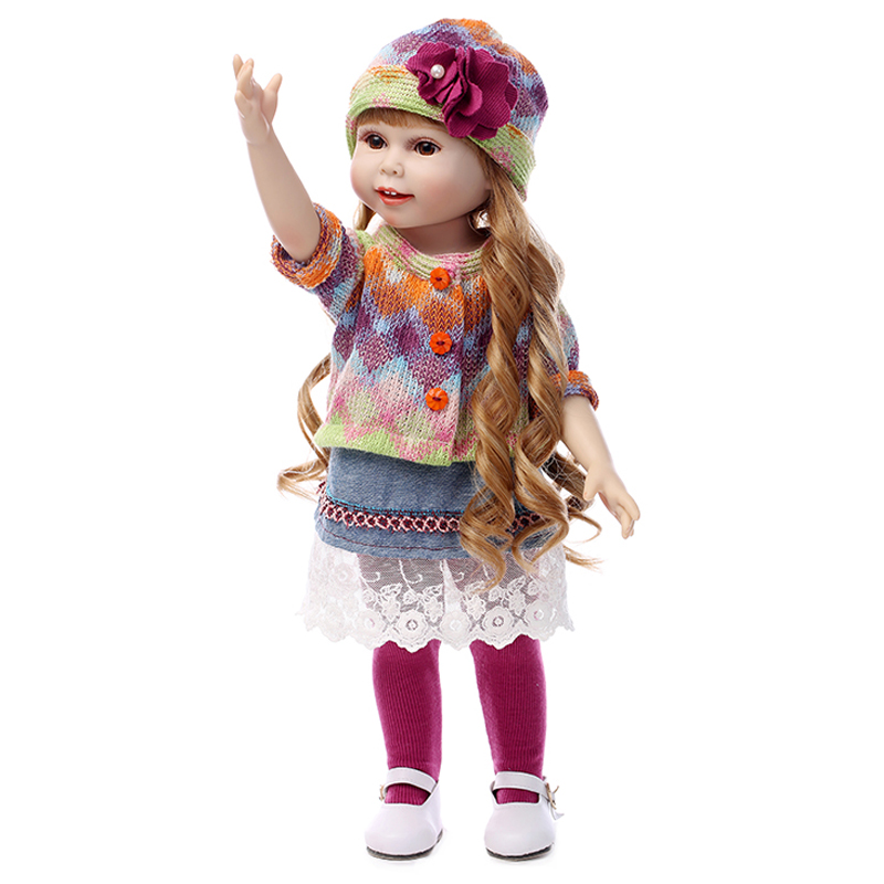 2015 New Arrival Best Christmas Gift Vinyl Kids Playmate Baby American Girl Toys Doll 18 Inch
