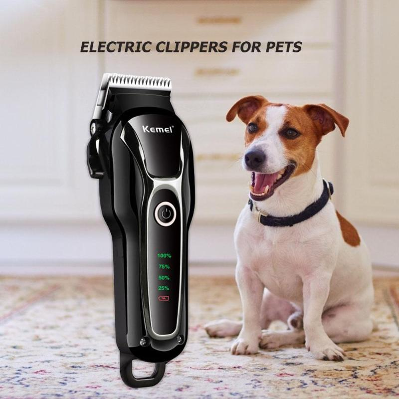 Electric Dog Hair Trimmer Cutter Rechargeable Pet Hair Grooming Clipper EU|Hair Trimmers|   - title=