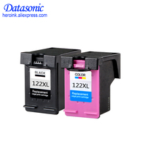 Dat 2Pack 122XL Ink Cartridge Replacement for HP Deskjet 1000 1050A 2000 2050 2050A 3000 3050 3050A 1510 Printer