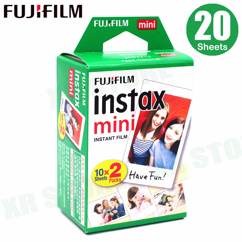 цена на Fujifilm Instax Mini Film White Edge 20 Sheets/Packs Photo Paper for Fuji instant camera 9/8/7s/25/50/90/sp-1/sp-2 with Package