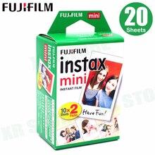 Fujifilm Instax Mini Film bord blanc 20 feuilles/paquets papier Photo pour appareil Photo instantané Fuji 11 9 8 7s 25 50 90 sp 1 2 avec emballage