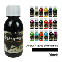 9 Colors Red Blue Black Temporary Tattoo Inks 100ml Bottle Pigments For Airbrush Spray Pen Paint