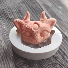 Devil Cat Silicone Mould, Chocolate Epoxy, Plaster, Candy Fondant Baking Cake Decoration 1558
