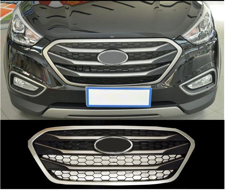 styling case For Hyundai ix35 2013-2015 Original high quality ABS Front Grille Trim Racing Grills Trim Environment accessories