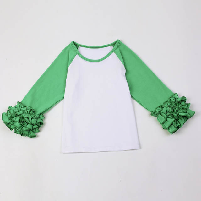 Placeholder Ruffled Raglan Toddler Shirtglitter Monogram Birthday Girls Shirt Monogrammed Childrens Ruffle Sleeved Shirts