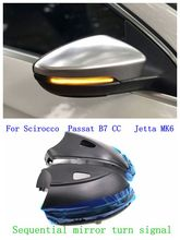 LED Flowing Rear View Dynamic Sequential MIRROR Turn Signal Light For VW Passat B7 CC Jetta MK6 Scirocco Golf MK6 kibowear for vw passat cc jetta mk6 gli matte chrome side wing mirror cover caps fit vw passat b7 scirocco beetle silver