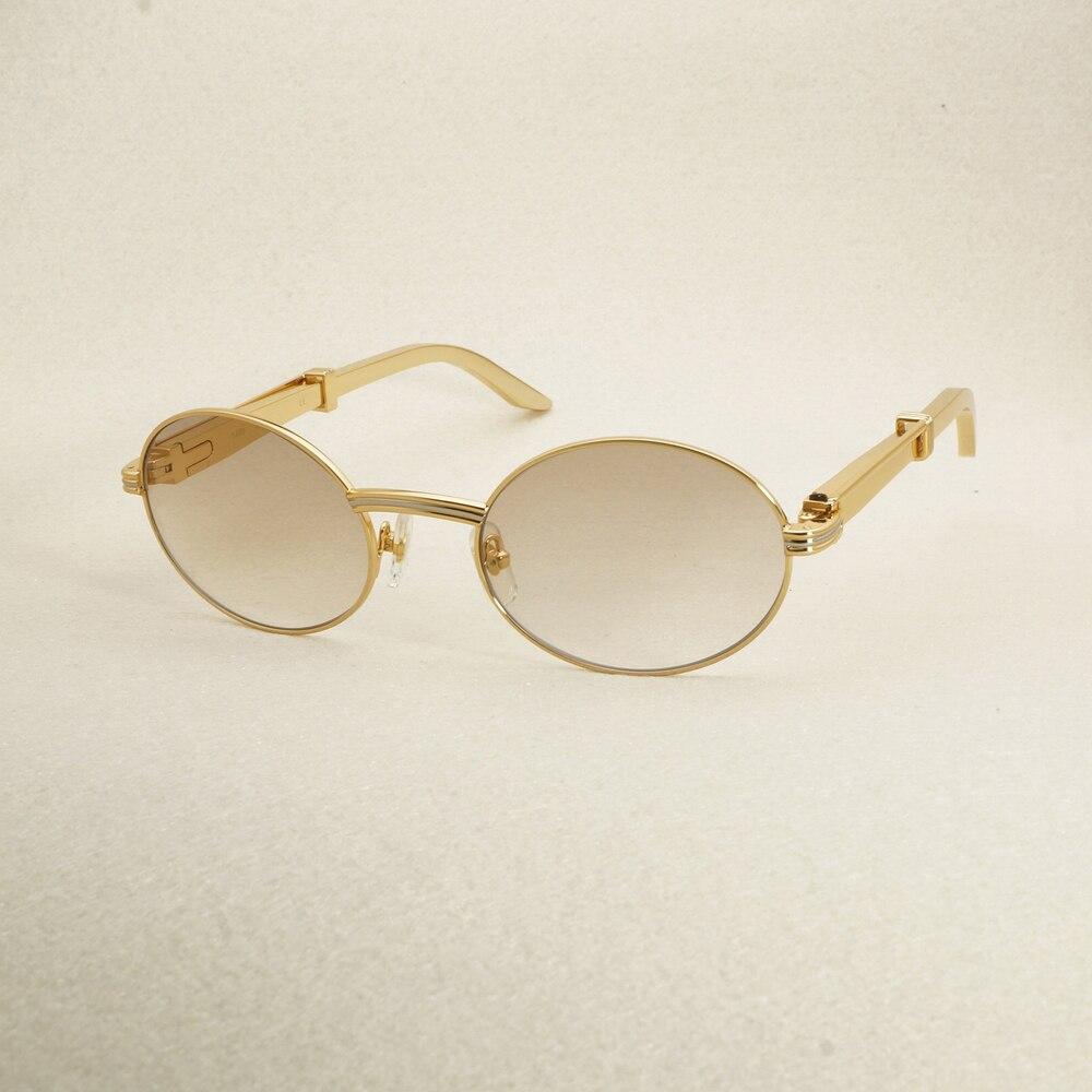Gold Sonnenbrille Edelstahl Sommer Luxus Sonnenbrille Männer Carter ...
