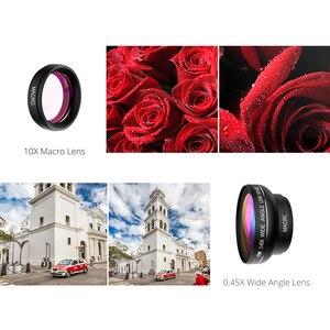 Image 5 - חדש! VTIN אוניברסלי מקצועי HD טלפון מצלמה עדשת ערכת 0.45x סופר רחב זווית עדשה + 10x סופר מאקרו עדשה + 37mm חוט קליפ