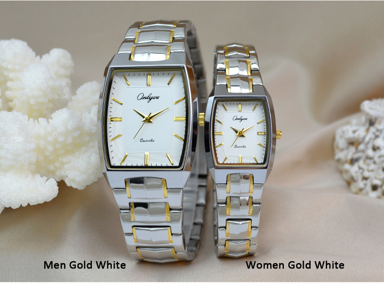 Onlyou Brand Luxury Quartz Watch Women Men Ladies Dress Watch Boss Stainless Steel Gold Silver Wristwatches Female Clock 8893 onlyou brand luxury watches womens men quartz watch stainless steel watchband wristwatches fashion ladies dress watch clock 8861