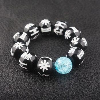 New Fashion Black Panther Wakanda T'Challa KIMOYO Beads Bracelet Black Rune Beads Bracelet With Crystal Beads Men Women Jewelry